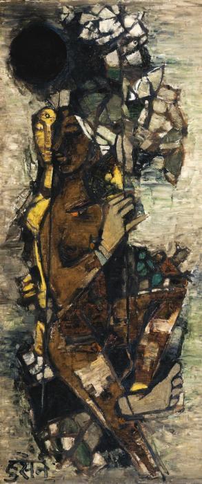 Maqbool Fida Husain-Jhoola-1961