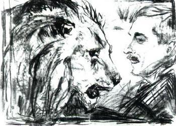 Edvard Munch-Der Lowenbandiger (The Lion Tamer)-1916