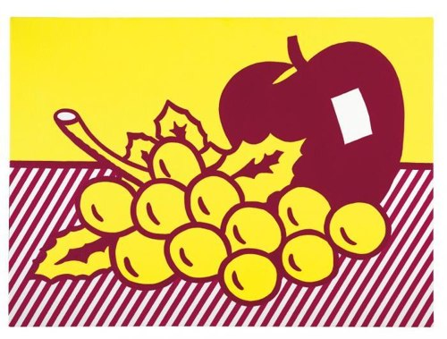 Roy Lichtenstein-Still Life: Apple and Grapes-1972