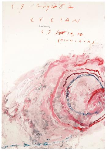 Cy Twombly-Lycian Drawing (Niphidia)-1982