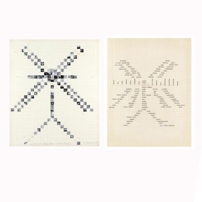 John Baldessari-Word Chain: Palm Tree, Cynthia's Story-1975