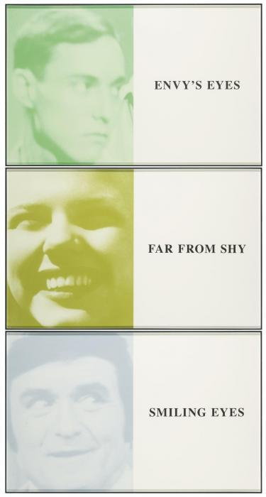 John Baldessari-Prima Facie (Fifth State): Envy's Eyes/Far From Shy/Smiling Eyes-2006