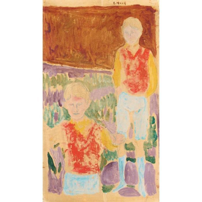 Edvard Munch-Johan Martin og Sten Stenersen-1935
