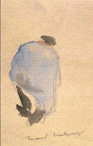 Marcel Duchamp-Paysan Agenouille, vu de dos-1905