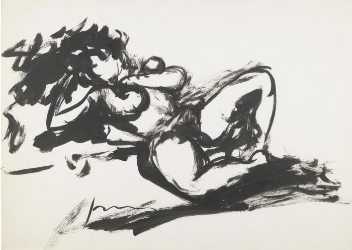 Lucio Fontana-Untitled (Nudo Femminile)-1965