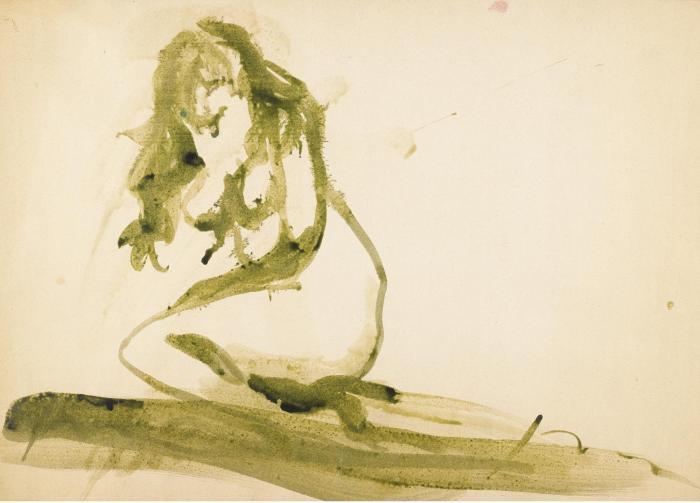 Lucio Fontana-Untitled (Nudo)-1965
