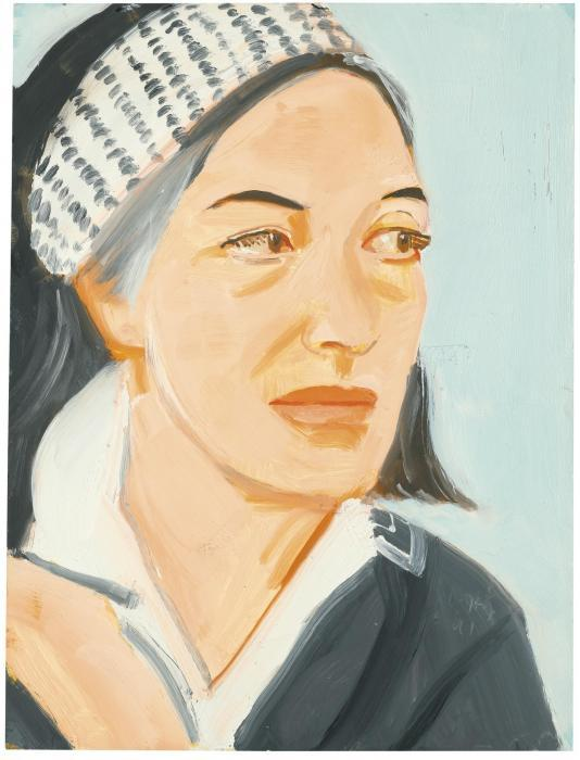 Alex Katz-Ada with Dotted Hairband-1991