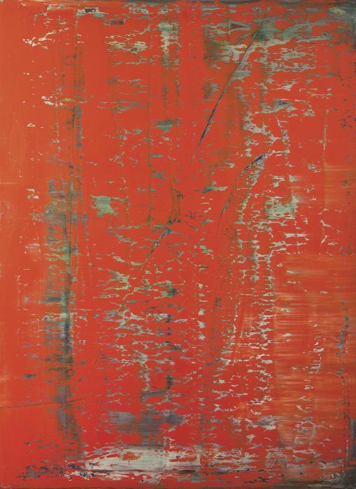 Gerhard Richter-Abstraktes Bild 743-1 (Rot)-1991