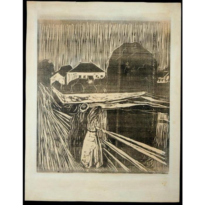 Edvard Munch-Girls on the Bridge / Madchen auf der Brucke (W. 628; S. 488)-1918
