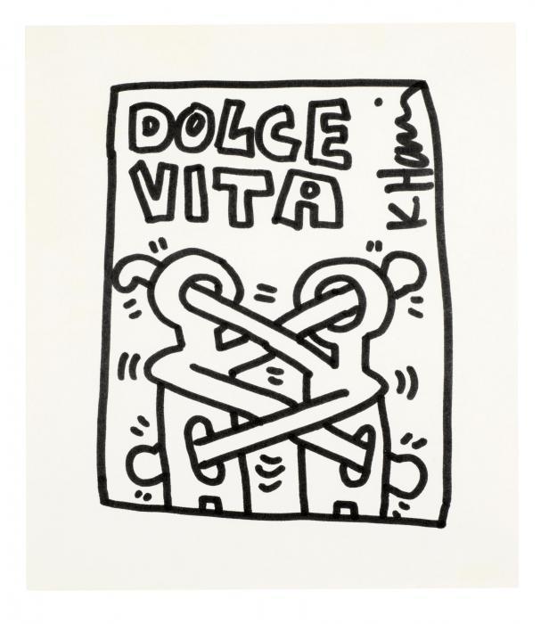 Keith Haring-Keith Haring - Dolce Vita-1980