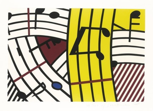 Roy Lichtenstein-Composition IV-1995