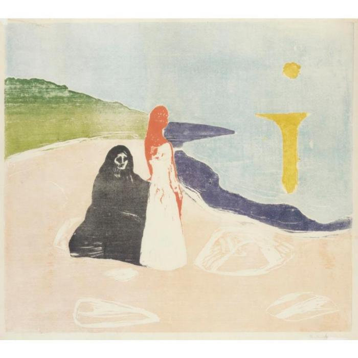 Edvard Munch-Frauen am Meeresufer / Two Women on the Shore / Women on beach-1898
