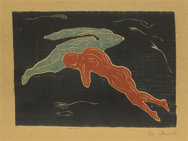 Edvard Munch-Encounter In Space (W. 136; Sch. 135)-1899