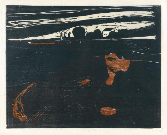 Edvard Munch-Melancholy III (W. 203; Sch. 144)-1902