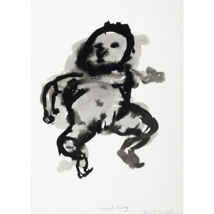 Marlene Dumas-Escaped Baby-1989