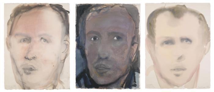 Marlene Dumas-(i) Anton (Emerging); (ii) Anton (Fixated); (iii) Anton (Arrested)-2000