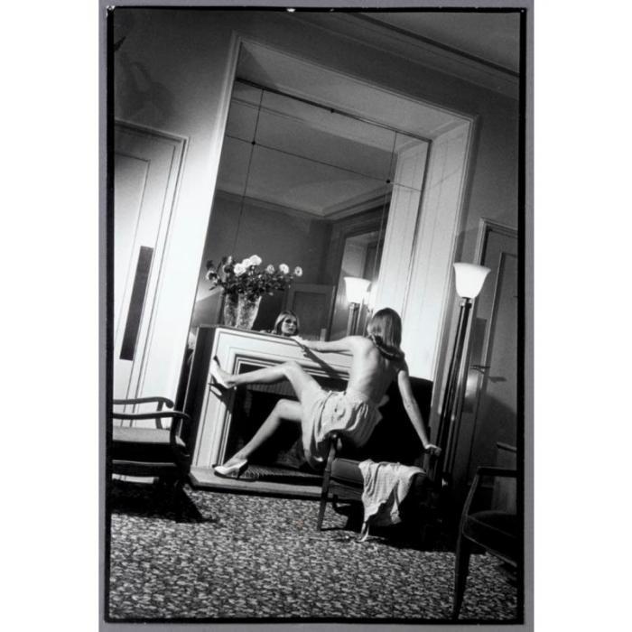 Helmut Newton-Hotel De Crillon (woman By Fireplace), Paris (1979)-1979