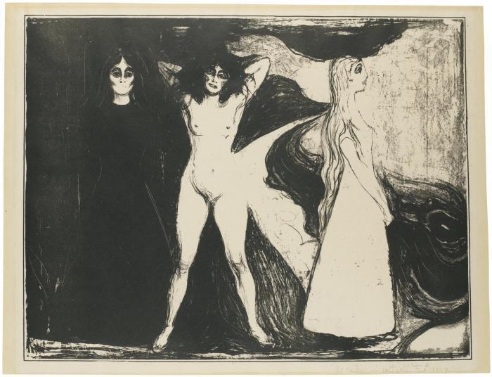Edvard Munch-Woman / Kvinnen / Das Weib (Woll 147)-1899