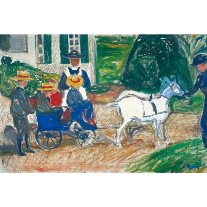 Edvard Munch-The Goats Carriage / Der Ziegenwagen-1903