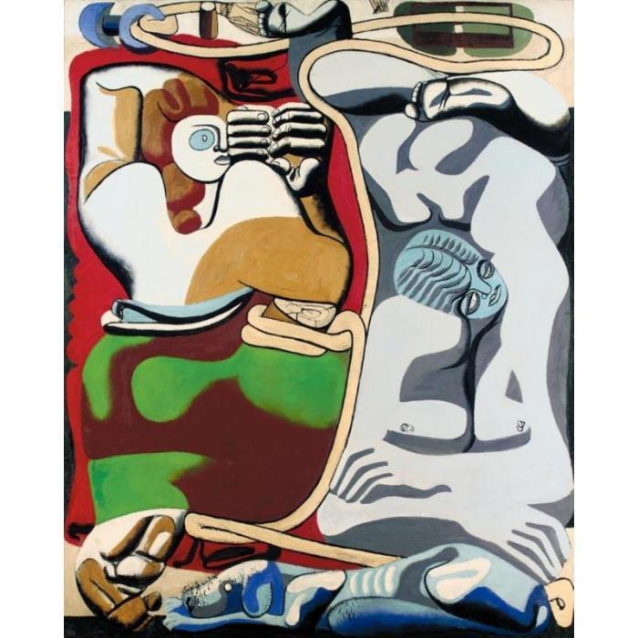 Le Corbusier-Deux femmes, la corde et le chien-1935