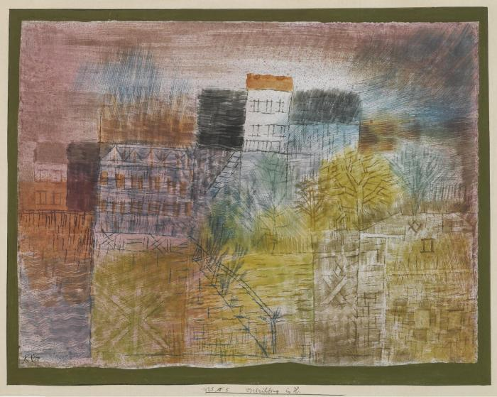 Paul Klee-Vorfruhling In H. (Early Spring In H.)-1925