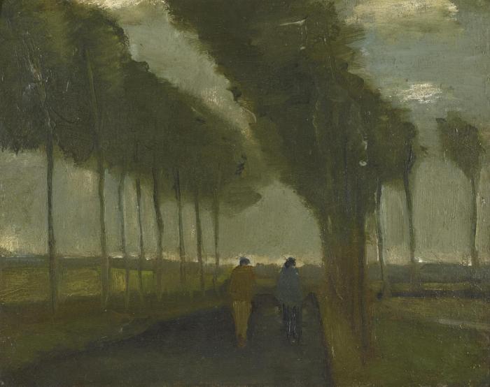 Vincent van Gogh-l'Allee aux Deux Promeneurs-1885