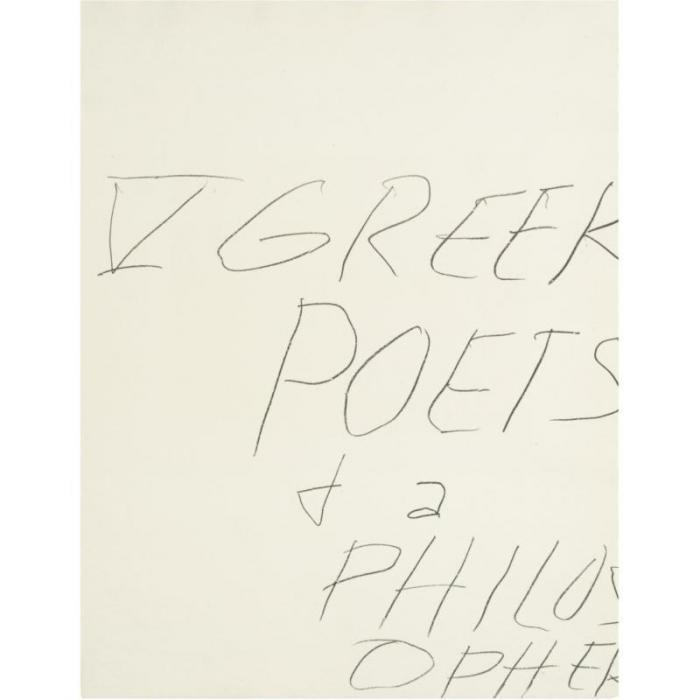 Cy Twombly-V Greek Poets and Philosopher-1978