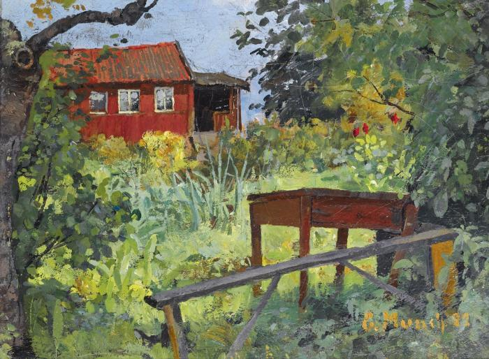 Edvard Munch-Garden with Red House-1882