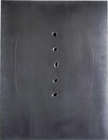 Lucio Fontana-Concetto spaziale-1962