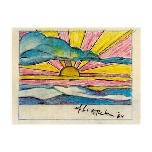 Roy Lichtenstein-Study for setting Sun and Sea Landscape-1964