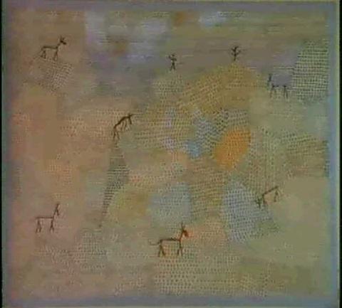 Paul Klee-Landschaft Mit Eseln-1932