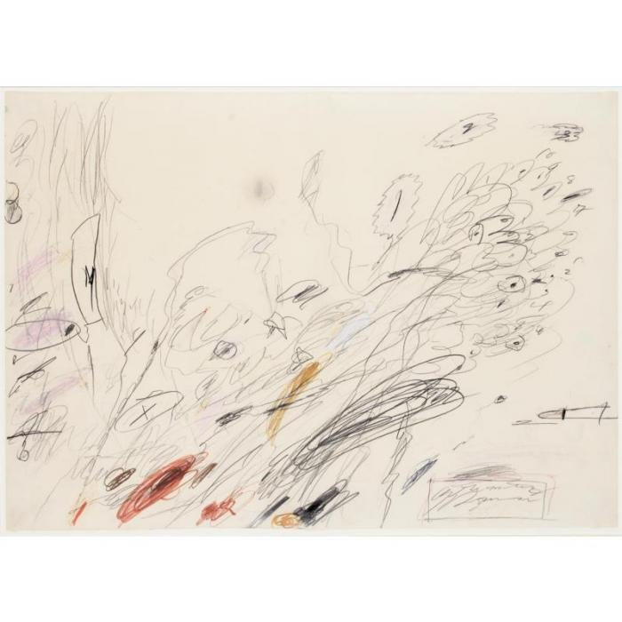 Cy Twombly-Untitled, Rome-1963
