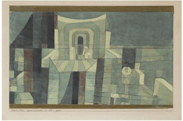 Paul Klee-Architektur In Rot U Grun (Architecture In Red And Green)-1921