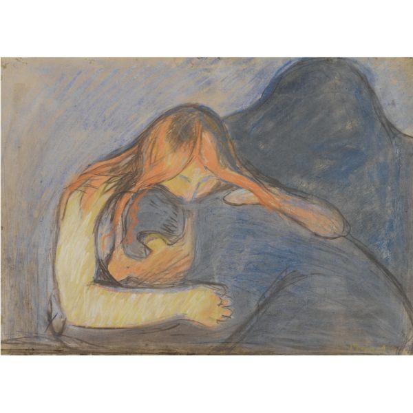 Edvard Munch-Vampire-1895