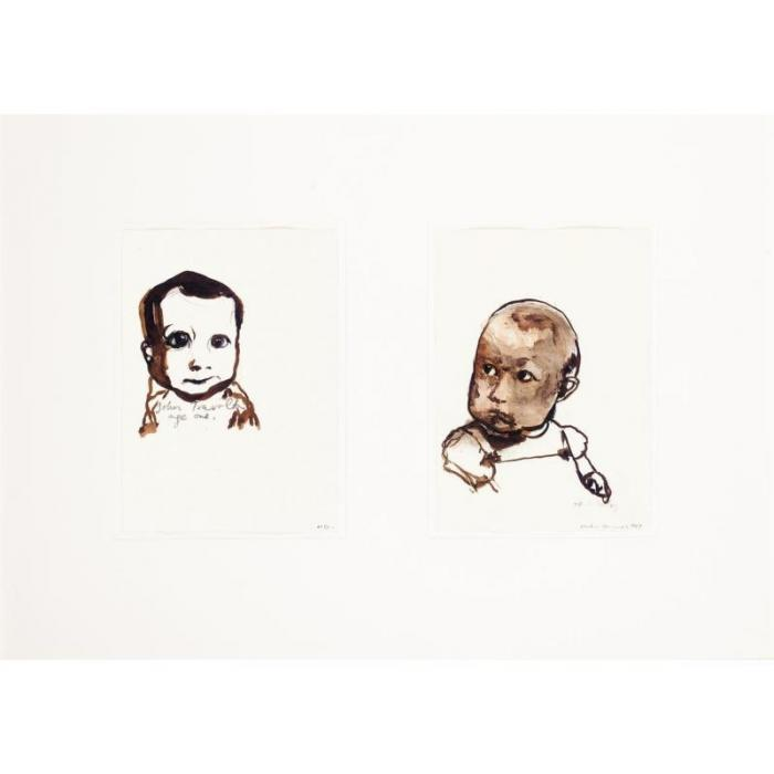 Marlene Dumas-John Travolta and MD as Babies-1989