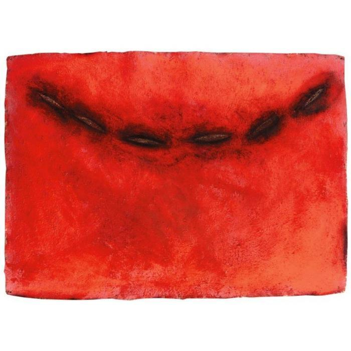 Anish Kapoor-Untitled (Composition in red)-1986