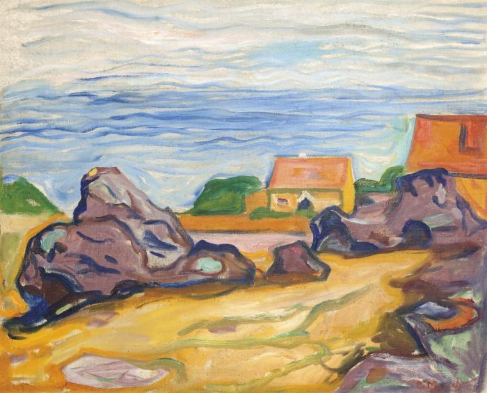 Edvard Munch-Hus i Borre (House in Borre)-1905