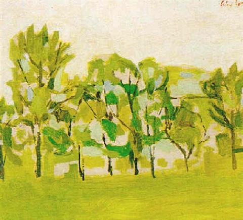 Alex Katz-Woodland Scene-1960