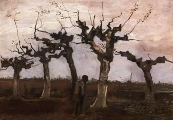 Vincent van Gogh-Pollard birches-1884