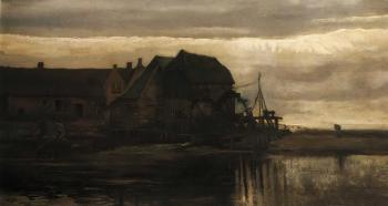 Vincent van Gogh-Watermill at Gennep-1884