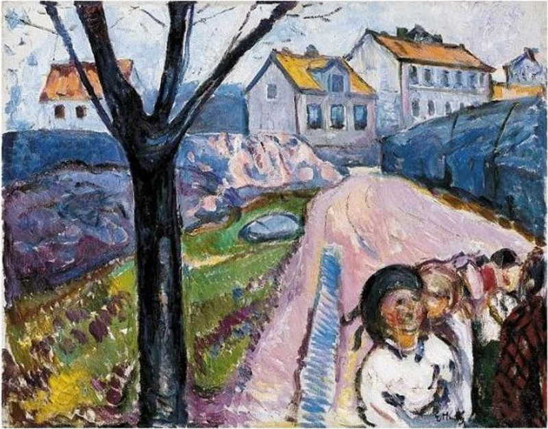 Edvard Munch-Street in Kragero-1912