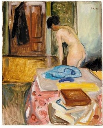 Edvard Munch-Woman in an Interior-1902