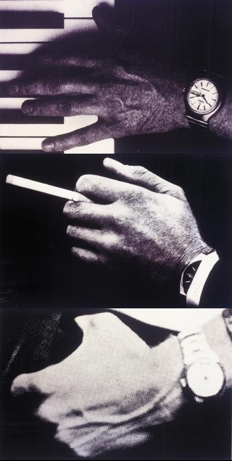 Richard Prince-Man's Hand With Watch And Cigarette/ Man's Hand With Watch And Piano / Man's Hand With Watch And Pocket-1980