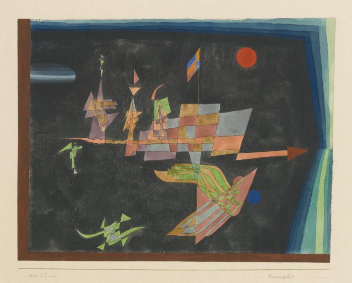 Paul Klee-Raumfahrt (Journey in Space)-1929