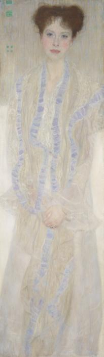 Gustav Klimt-Bildnis Gertrud Loew (Gertha Felsovanyi) (Portrait of Gertrud Loew - Gertha Felsovanyi)-1902
