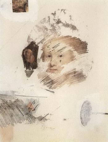 Robert Rauschenberg-Robert Rauschenberg - Combine Drawing #10-1964