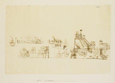 Paul Klee-Hafen (Mit Dem Kreuzer) (Harbour With Cruiser)-1927