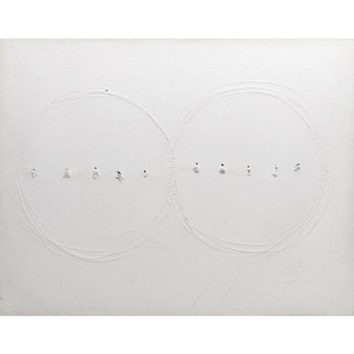 Lucio Fontana-Two Circles-1965