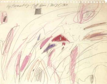 Cy Twombly-Untitled, Study for Triumph of Love-1960
