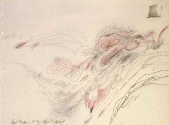 Cy Twombly-Untitled, Study for Triumph of Love-1961